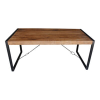 LivingFurn Industriële Eettafel 'Strong' Mango-hout 140 x 80
