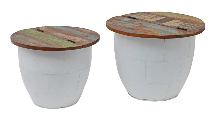 Brix Salontafel 'Amy Storage' set van 2 stuks Tafels | Salontafels vergelijken doe je het voordeligst hier bij Meubelpartner