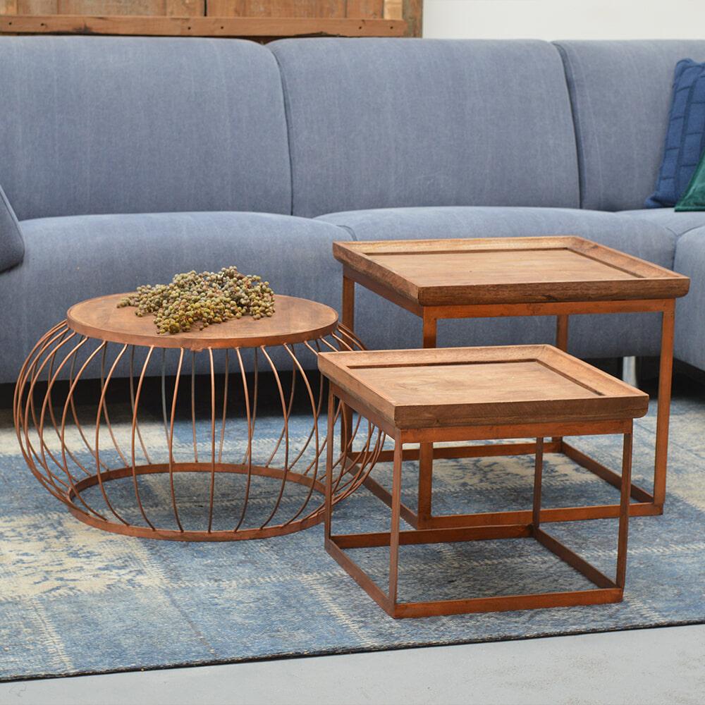 Brix Salontafel 'Carlo' set van 2 stuks Tafels | Salontafels vergelijken doe je het voordeligst hier bij Meubelpartner