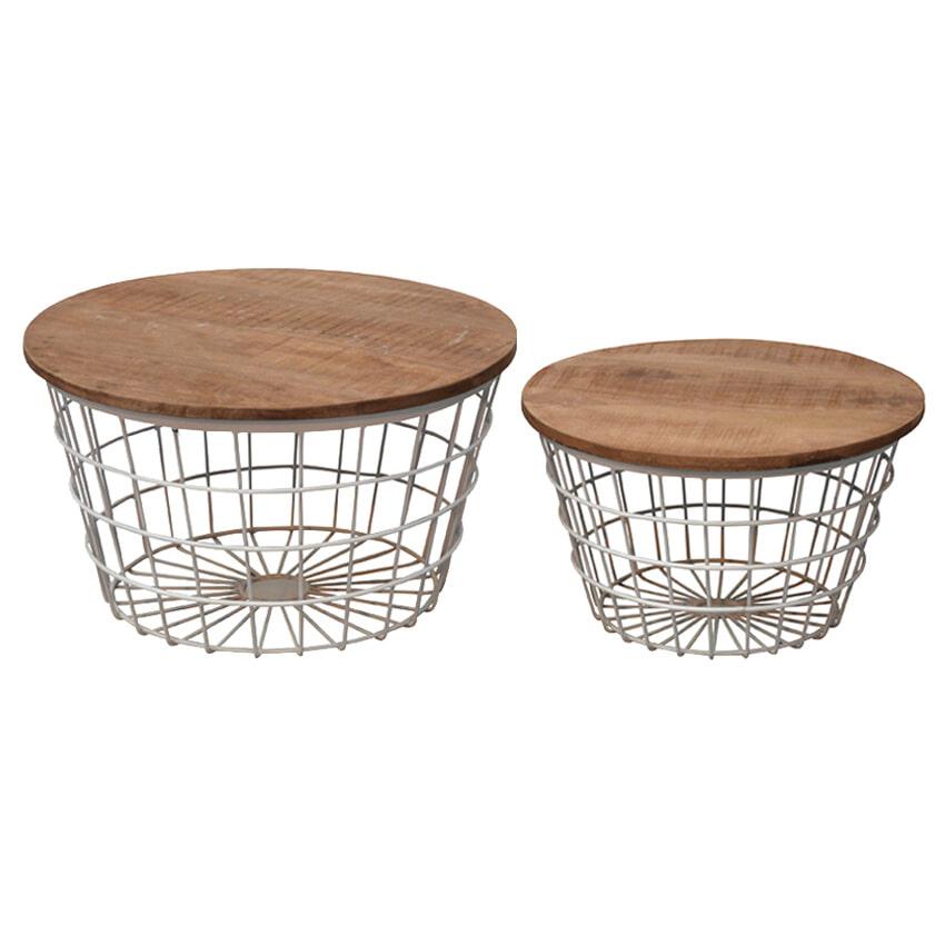 Brix Salontafel 'Dave' set van 2 stuks Tafels | Salontafels vergelijken doe je het voordeligst hier bij Meubelpartner