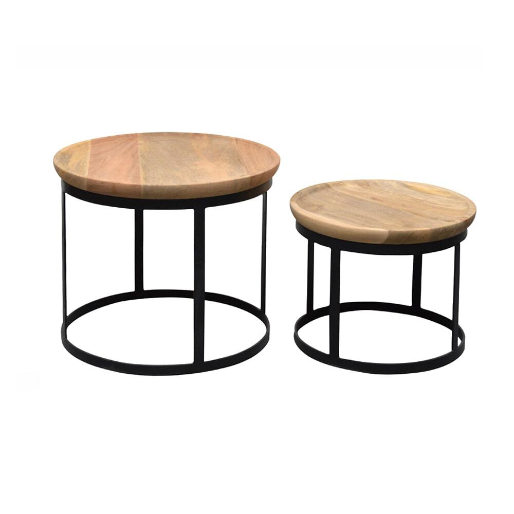 Brix Salontafel 'Duncan' set van 2 stuks Tafels | Salontafels vergelijken doe je het voordeligst hier bij Meubelpartner