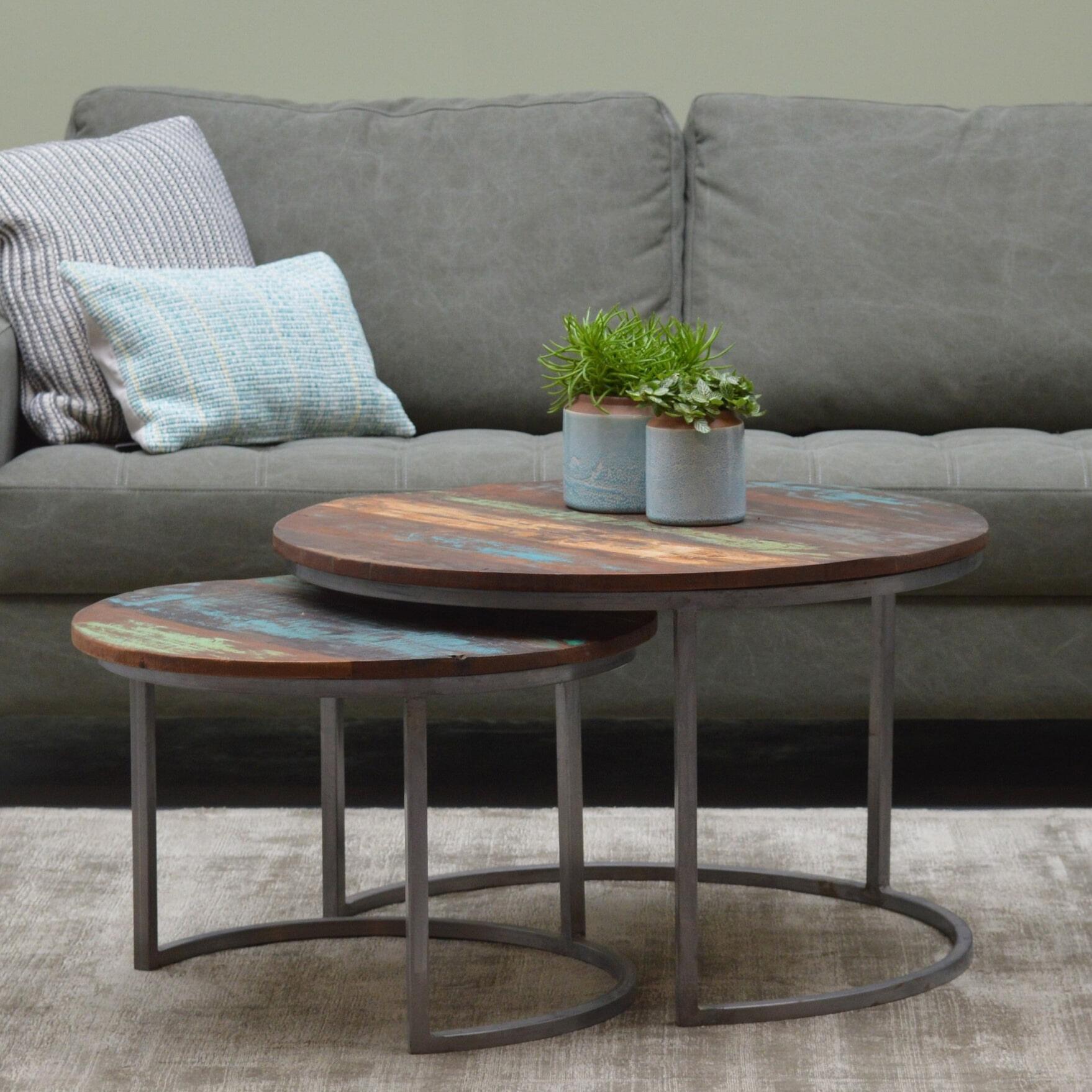 Brix Salontafel 'Jimmi' set van 2 stuks Tafels | Salontafels vergelijken doe je het voordeligst hier bij Meubelpartner