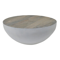 Brix Salontafel 'John' Bowl wit, kleur grey wash