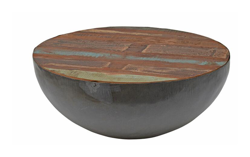 Brix Salontafel 'Kurt' Bowl metaal 70cm, kleur multicolor Tafels   Salontafels vergelijken doe je het voordeligst hier bij Meubelpartner