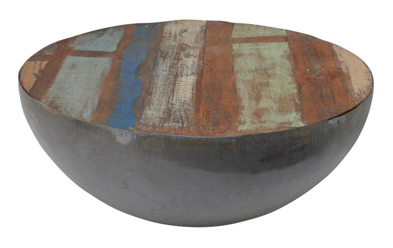Brix Salontafel 'Kurt' Bowl metaal 90cm, kleur multicolor Tafels | Salontafels vergelijken doe je het voordeligst hier bij Meubelpartner