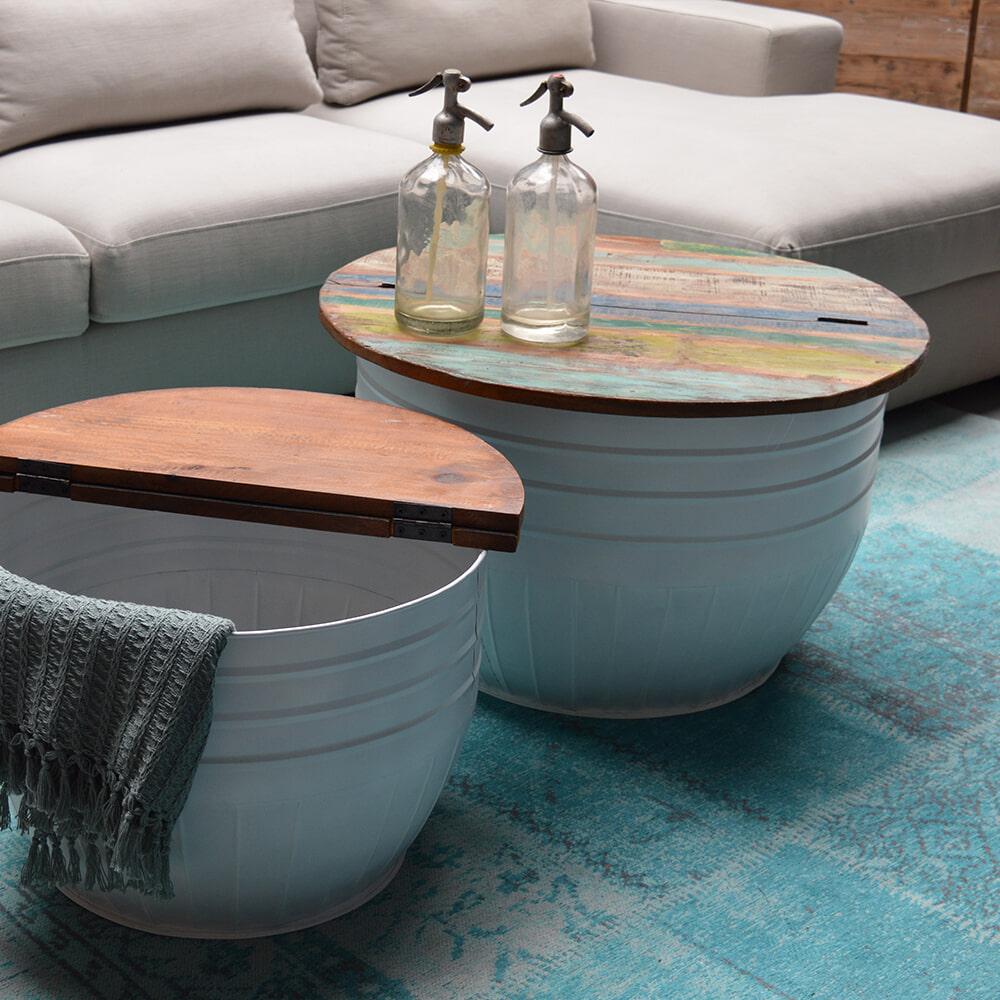 Brix Salontafel 'Paul Storage' set van 2 stuks Tafels | Salontafels vergelijken doe je het voordeligst hier bij Meubelpartner