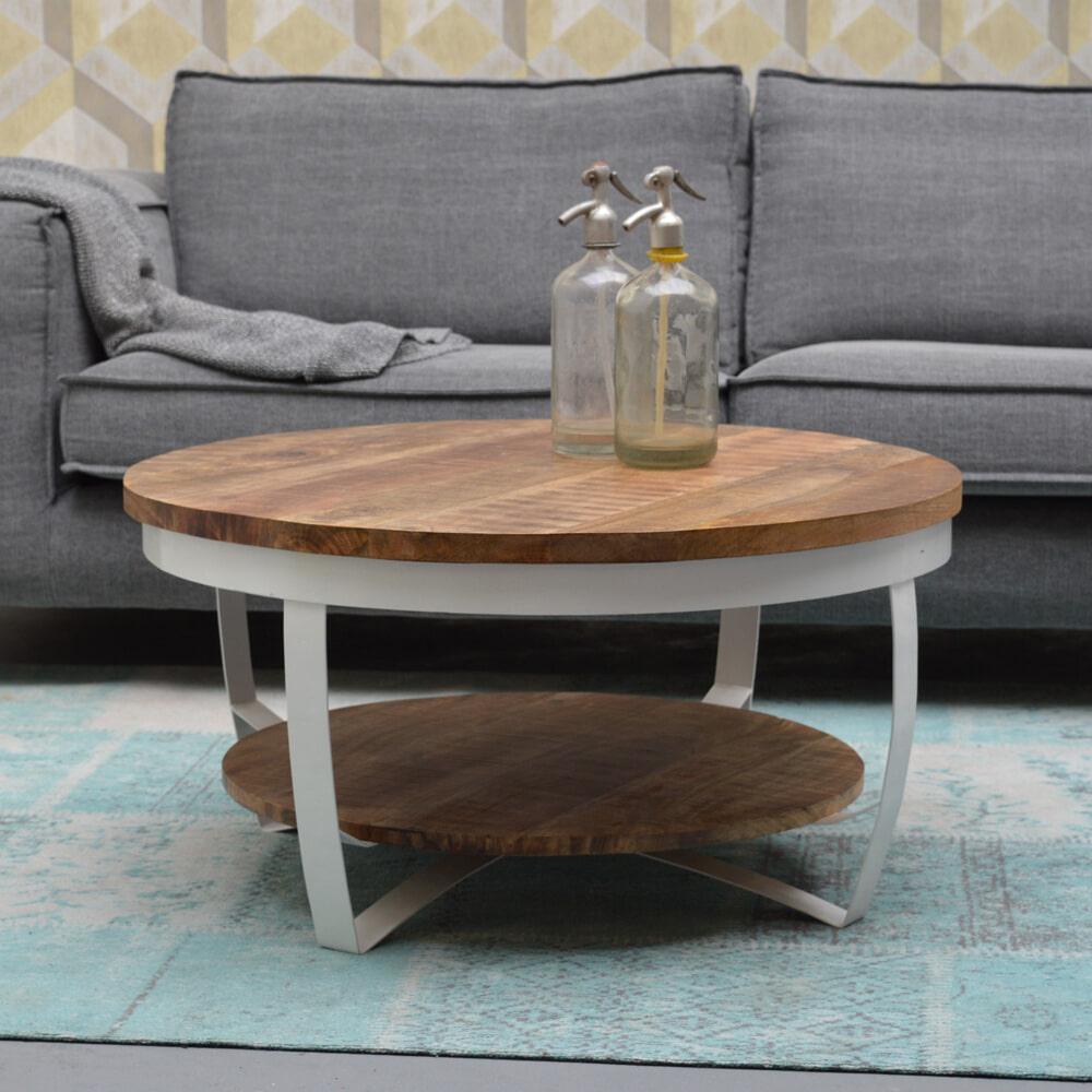Brix Salontafel 'Rob' 80cm, kleur wit Tafels | Salontafels vergelijken doe je het voordeligst hier bij Meubelpartner