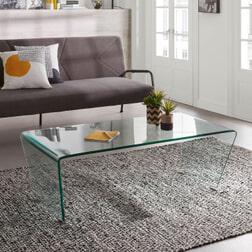 Kave Home glazen salontafel 'Burano', 120 x 60cm