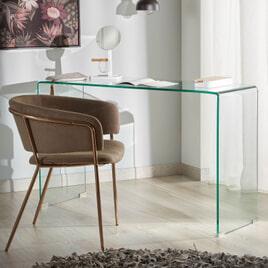 Kave Home Glazen Sidetable 'Burano', 125 x 40 cm