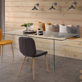 Kave Home Glazen Eettafel 'Burano', 180 x 90 cm