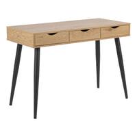 Bureau / Sidetable 'Märta' 110 x 50cm, kleur zwart / eiken