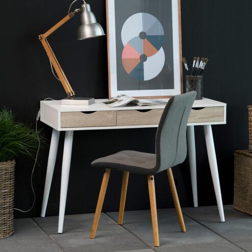 Bendt Bureau / sidetable 'Märta' 110 x 50cm met 3 laden