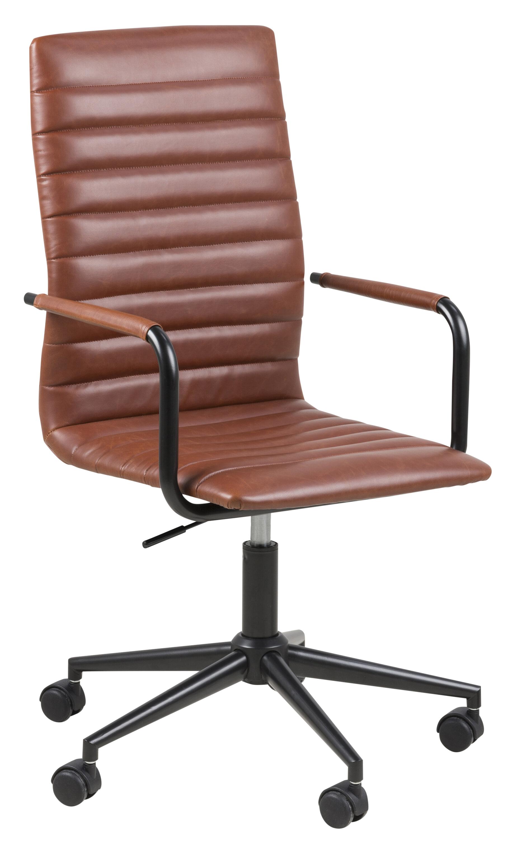 Bureaustoel 'Maria' PU leder, kleur bruin