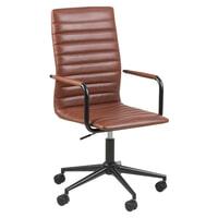 Bureaustoel 'Maria' PU-leder, kleur bruin