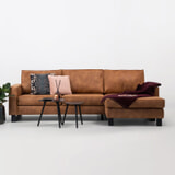 Sohome Loungebank 'Mathew' Rechts, Microleder, kleur cognac