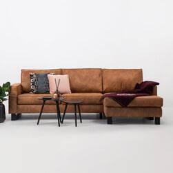 Sohome Loungebank 'Mathew' Kleur Cognac