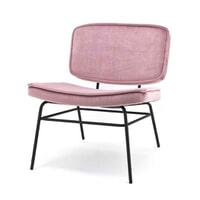 By-Boo Fauteuil 'Vice' Velvet, kleur Roze
