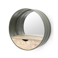 By-Boo 'Round' Spiegel met Lade groen