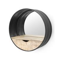 By-Boo 'Round' Spiegel met Lade zwart