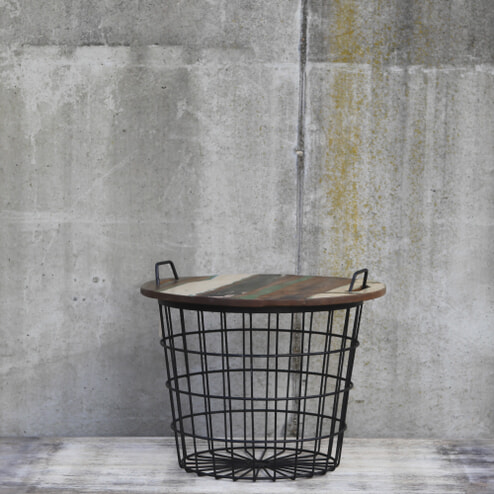 By-Boo Salontafel 'Basket', kleur zwart