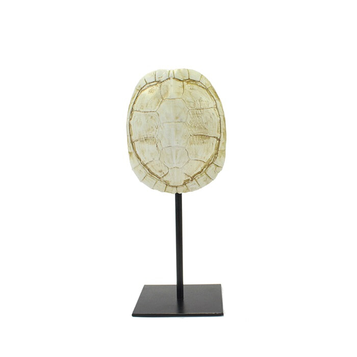 By-Boo Schildpaddenschild 'Katana small', kleur Wit Polyresin & metaal aanschaffen? Kijk hier!