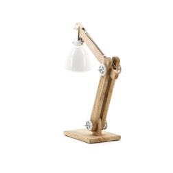 By-Boo tafellamp 'Barrel', kleur wit