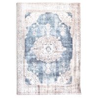 By-Boo vloerkleed 'Florence' 290 x 200cm, kleur Beige / blue