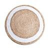 By-Boo Vloerkleed 'Jute Round' 120 cm, kleur wit