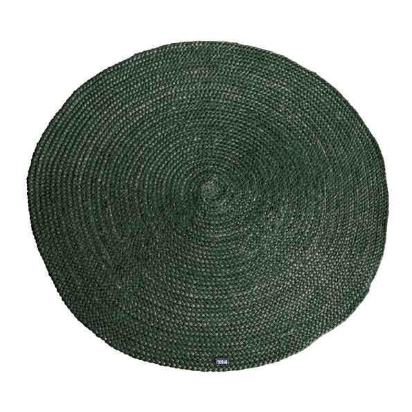 By-Boo Vloerkleed 'Jute round', kleur Groen 100% juten aanschaffen? Kijk hier!