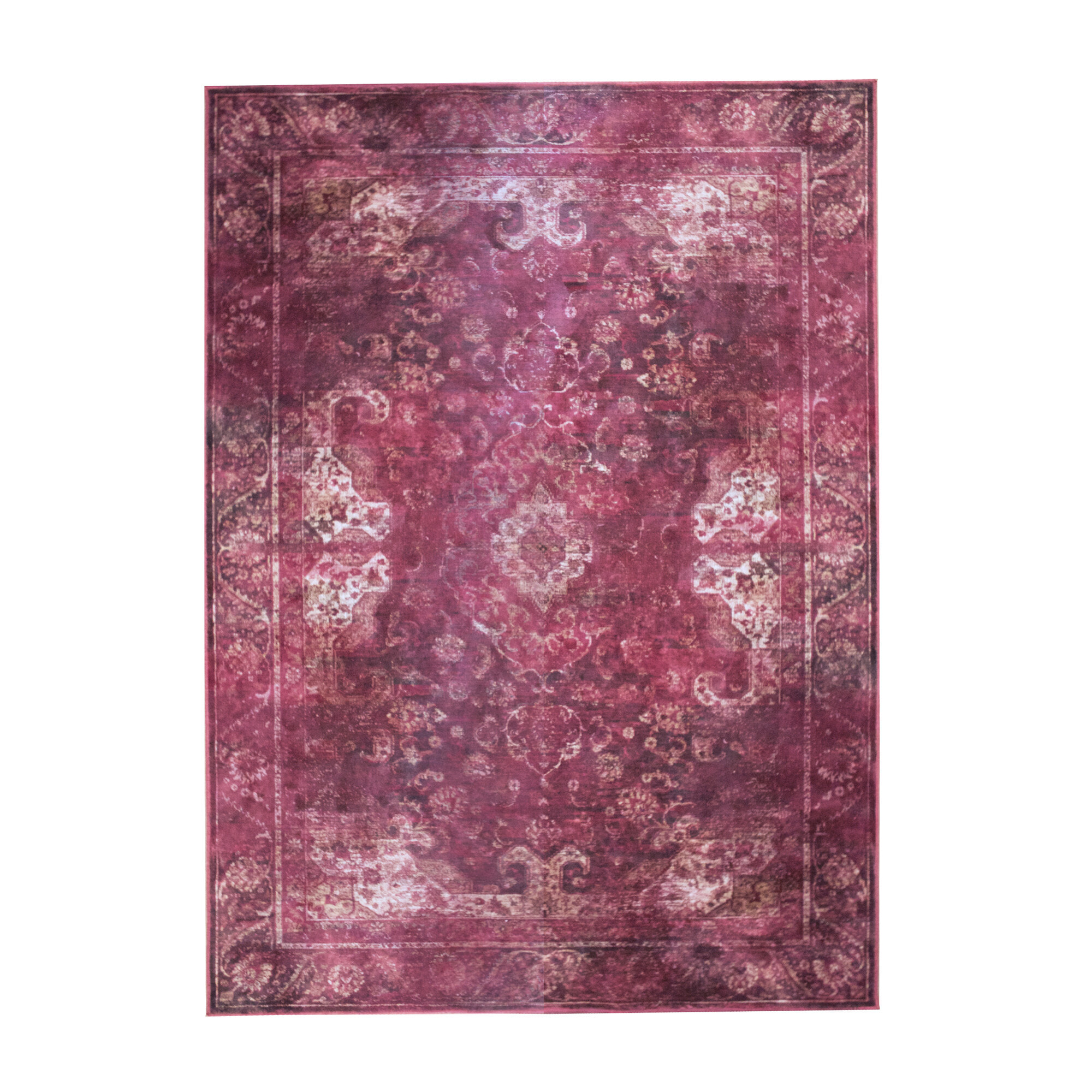By-Boo Vloerkleed 'Liv' 200 x 290cm, kleur paars Woonaccessoires | Vloerkleden