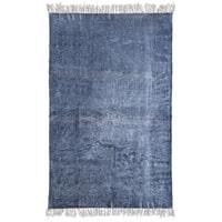 By-Boo Vloerkleed 'Mono' 120 x 180cm, kleur blue