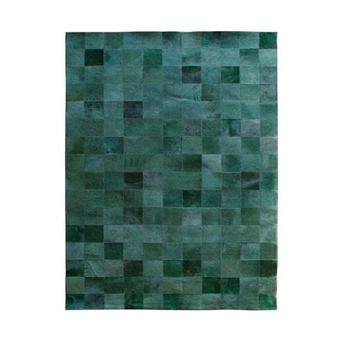 By-Boo vloerkleed 'Patchwork Leather' 160 x 230cm, kleur groen