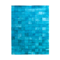 By-Boo vloerkleed 'Patchwork Leather' 160 x 230cm, kleur turquoise