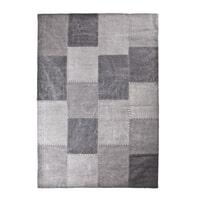 By-Boo vloerkleed 'Patchwork Mono' 200 x 290cm, kleur antraciet