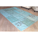 By-Boo Vloerkleed 'Patchwork' turquoise