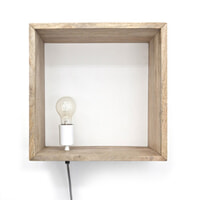 By-Boo Wandlamp 'Light In A Box', kleur naturel
