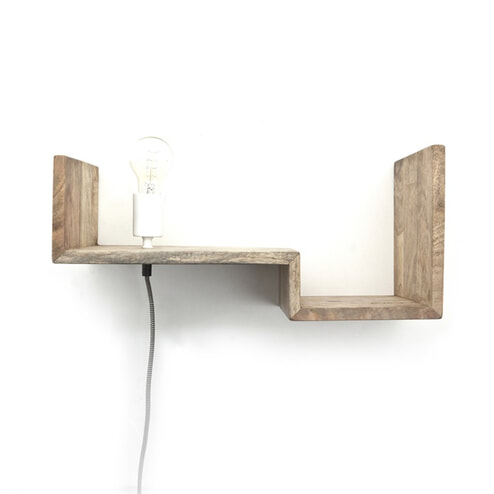 By-Boo Wandlamp / wandplank 'Top Shelf' 50cm
