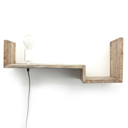 By-Boo Wandlamp / wandplank 'Top Shelf' 75cm