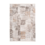 Kayoom Vloerkleed 'Akropolis 425' kleur Grijs / Zilver, 80 x 150cm