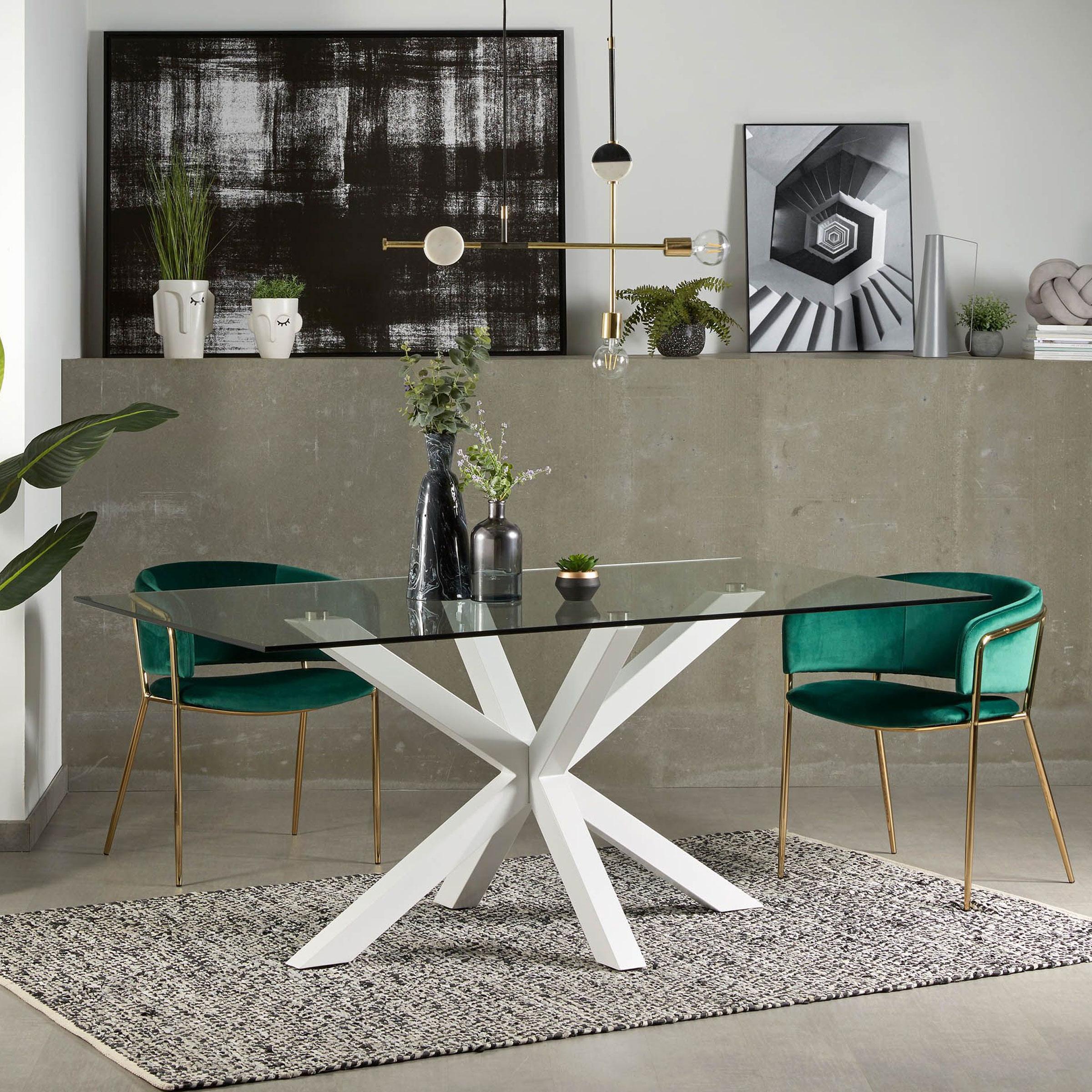 Kave Home Eettafel 'Argo' wit, 180 x 100cm