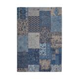 Kayoom Vloerkleed 'Symphony 160' kleur Blauw, 80 x 150cm