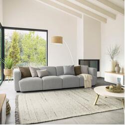Kave Home 4-zits Bank 'Legara' kleur Lichtgrijs