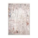Kayoom Vloerkleed 'Akropolis 125' kleur Grijs / Zalmroze, 80 x 150cm