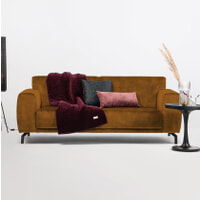 Sohome 3-zits Bank 'Jill' Velvet, kleur cognac