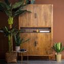 Eleonora Opbergkast 'Carter' Mangohout en marmer, 172 x 105cm