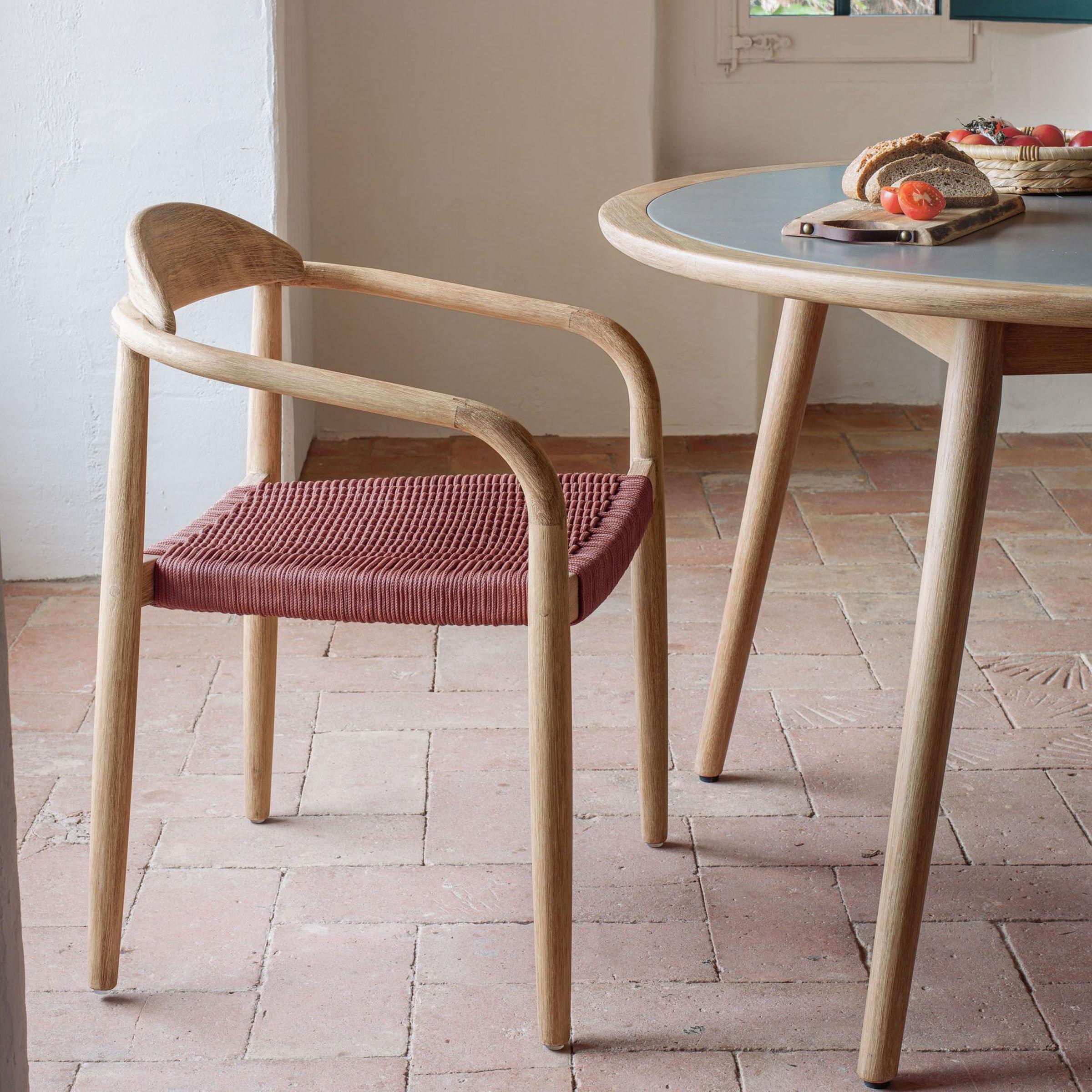 Kave Home Tuin / Eetkamerstoel 'Nina', kleur Terracotta