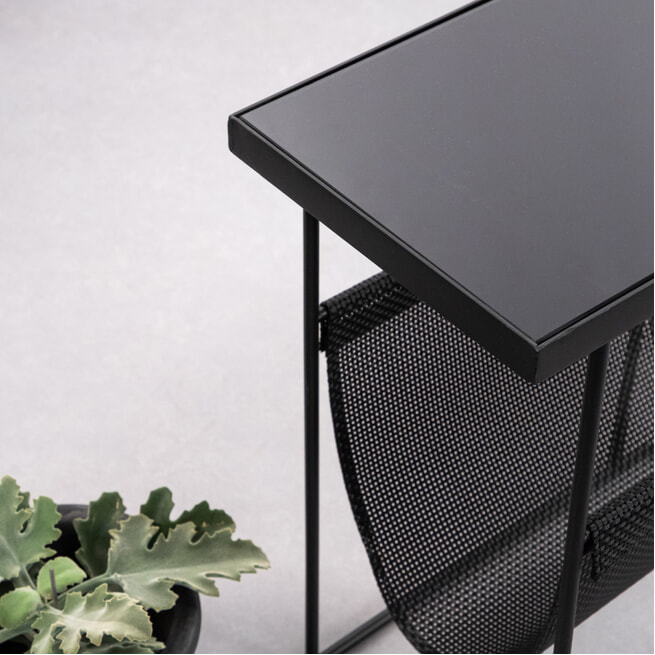 Kave Home Bijzettafel 'Vivienne' 45 x 25cm, kleur Zwart