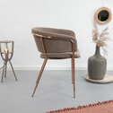 Kave Home Eetkamerstoel 'Runnie Copper', kleur Taupe