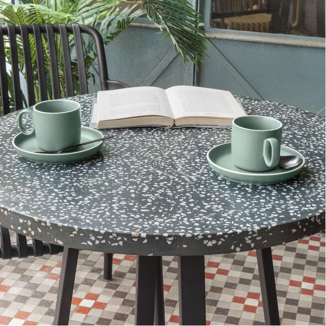 Kave Home Bistrotafel 'Tella', 75cm, kleur Zwart