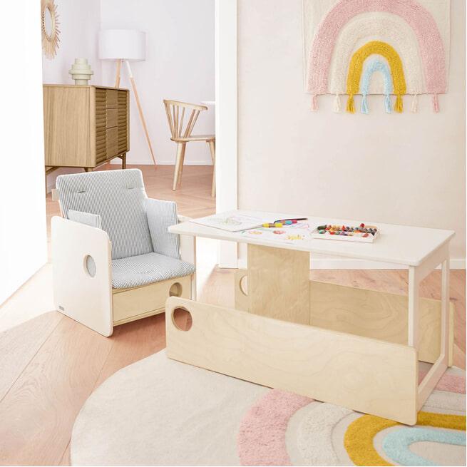 Kave Home Kinderstoel 'Nuun', 92cm, kleur Naturel
